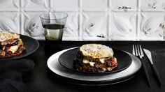 Smoky, bitter and sweet eggplant lasagne