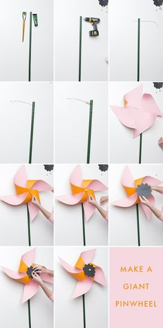 DIY giant flower pinwheel