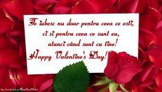 Felicitari Ziua indragostitilor - Te iubesc nu doar pentru ceea ce eşti, ci şi pentru ceea ce sunt eu, atunci când sunt cu tine. Happy Valentine's Day! - mesajeurarifelicitari.com