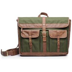 HASSO Soto - Military Green ($155) ❤ liked on Polyvore featuring bags, military green, olive green messenger bag, leather messenger bag, zipper bag, genuine leather bag and metallic leather bag