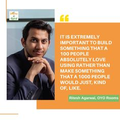 It is extremely important to build something that a 100 people absolutely love u. - It is extremely important to build something that a 100 people absolutely love using rather than ma - Loving U, Love, The 1000, Startup Quotes, Build Something, Presentation, About Me Blog, Spa, Branding