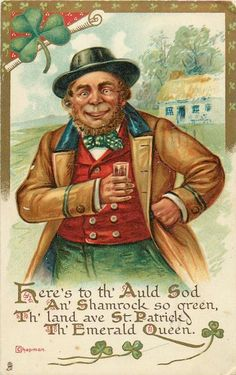 Now that is an old Irishman...postcard for St Patrick's Day!