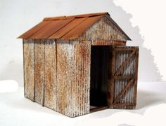First Friday Fiction Feature - Fifty Sheds of Grey Fifty Sheds Of Grey, Metal Shed, Rusted Metal, Rustic Shed, N Scale Layouts, Ho Scale Buildings, Greenhouse Shed, Corrugated Tin, Shepherds Hut