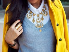 to die for vintage statement necklace. i love when one piece can make an outfit.