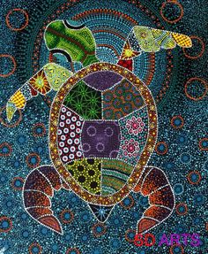 61 Ideas for animal art projects dot painting Aboriginal Dot Painting, Dot Art Painting, Aboriginal Art Animals, Aboriginal Art For Kids, Encaustic Painting, Kunst Der Aborigines, Ecole Art, Wow Art, Arte Popular