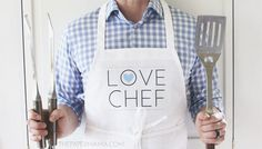 Love Chef Apron DIY with Printable - The Paper Mama