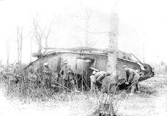 Captured British Mk IV tank