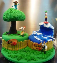 "phineas and ferb cakes (by Little ""Miss"" OC's Kitchen)"