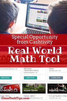 Cashtivity - Real World Math Challenge Tool for Teachers