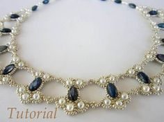 PDF tutorial lace beaded necklace seed bead pearl by BeadsMadnessThis tutorial includes a pdf file detailed step-by-step written instructions with photo for visual help.Bezel Effect Necklace Seed Bead Jewelry, Bead Jewellery, Wire Jewelry, Jewelry Crafts, Jewelery, Jewelry Necklaces, Handmade Jewelry, Beaded Bracelets, Seed Beads
