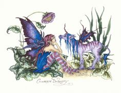 Fairy Art Artist Amy Brown: The Official Online Gallery. Fantasy Art, Faery Art, Dragons, and Magical Things Await. Amy Brown Fairies, Dark Fairies, Fairy Pictures, Unicorns And Mermaids, Cross Stitch Art, Love Fairy, Beautiful Fairies, Magical Creatures, Woodland Creatures