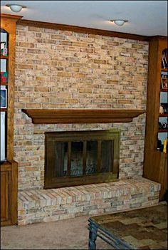 Stained Brick from Red on Pinterest | Brick Fireplaces ...