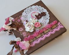 Mini Album Love  OOAK Scrapbook Chipboard 6x6 by ScrappyStuffShop, $49.00