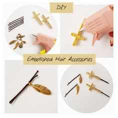 It's a drizzly grey Saturday.  Perfect weather to do a little DIY project! Today I've decided to create some embellished hair pins. Jewelry isn't just about bracelets, necklaces and rings anymore. Hair jewelry has been becoming really popular too! So here's my take on it! Supplies needed: Some bobby pins or hair clips, charms, hot glue …