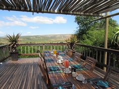 View from Woobury Lodge on Amakhala Game Reserve Game Reserve South Africa, Lodges, Boutique Hotels, Patio, Outdoor Decor, Cape, Home Decor, Mantle, Cabins