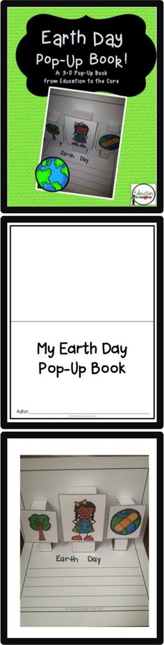 Earth Day Pop-Up Book: Kids can write about ways to save the Earth! Engaging and motivational activity. $