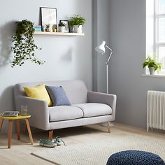 John Lewis Archie Small 2 Seater Sofa Light Leg Saga Grey Online At