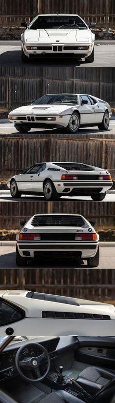 1978 BMW M1 / Giorgetto Giugiaro / 457 produced / 286hp M88 3.5l L6 / white / Germany / 17-384