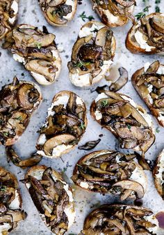Mushroom and Goat Cheese Crostini - 10 Summer Crostini Recipes That Are Near to Perfection