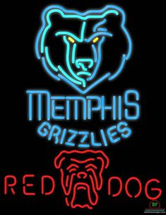 8c34c14aeb8 Red Dog Memphis Grizzlies Neon Sign NBA Teams Neon Light