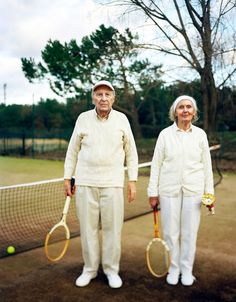 My grand parents at a local tennis competition. © Olivier Fermariello