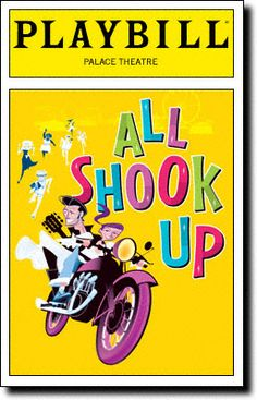 All Shook Up  On March 24, 2005, Joe DiPietro's All Shook Up, featuring the songs of Elvis Presley, opened on Broadway at the Palace Theatre...