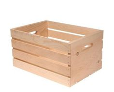 Home Depot wooden crate / $11.97 / each