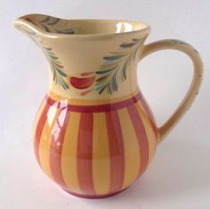 Gail Pittman Pottery Siena Pitcher Southern Living at Home Slah Red Yellow 48 Oz | eBay