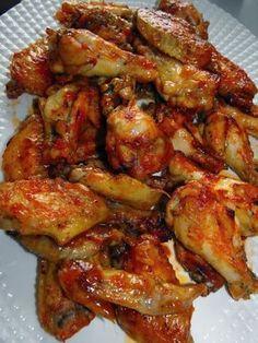 Alitas de pollo al horno tipo burguer king