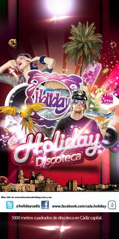 flyer para discoteca HOLIDAY Cádiz.
