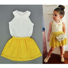 Summer Girls skirts set chiffon top and lace skirt two piece outfit toddler clothing sets baby girls apparel vetement filleHB225 - http://www.aliexpress.com/item/Summer-Girls-skirts-set-chiffon-top-and-lace-skirt-two-piece-outfit-toddler-clothing-sets-baby-girls-apparel-vetement-filleHB225/32423405785.html