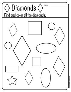 Free printable shapes worksheets for toddlers and preschoolers. Preschool shapes activities such as find and color tracing shapes and shapes coloring pages. Preschool Journals, Preschool Curriculum, Preschool Printables, Preschool Lessons, Preschool Worksheets, Toddler Preschool, Preschool Activities, Educational Activities, Shape Activities