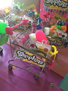 Shopkins Party Favor Idea - Mini Shopping Carts
