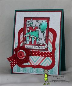 Birthday Card featuring Bugaboo Stamps Make It Snappy-Birthday Cake