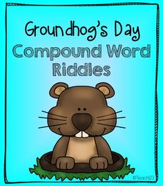 Groundhog Day: Compound Words Freebie #Free #Teach123