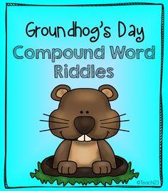 Groundhog Day: Compound Words Freebie #Free #Teach123