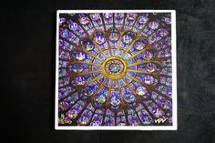 Fine Art Ceramic Coaster of Rose Window in Notre Dame, Paris.  Coated with a smooth, but antique style finish by VPVPhotography on Etsy