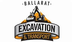 ballarat excavation transport business logo