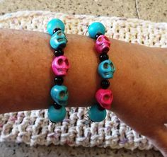 Friendship His/Hers Skull Bracelets* by newyearcreations. Explore more products on http://newyearcreations.etsy.com
