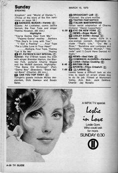 Lesley Gore - TV Guide - Metro NY Edition - Mar 14, 1970 - pA28 Barbara Mcnair, Art Linkletter, Lesley Gore, Tv Guide, Vintage Magazines, Comics, Film, Movie, Film Stock