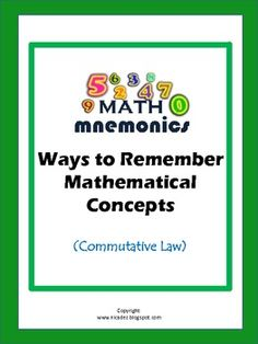Math Mnemonics- Commutative Law