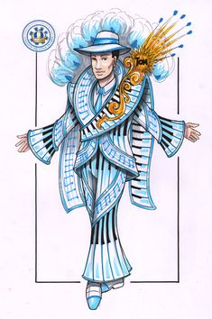 Character Art, Character Design, Samba Costume, Earth Wind & Fire, Work Inspiration, Anime Outfits, Fashion Sketches, Costume Design, Lapis Lazuli