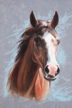 Custom Portraits by Michelle Gladish. Cute Horses, Horse Love, Beautiful Horses, Horse Drawings, Animal Drawings, Art Drawings, Horse Pictures, Art Pictures, Watercolor Animals