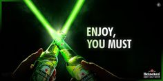 Heineken goes Star Wars More Beer, Delivery App, Liquor Store, Creative Advertising, You Must, Alcohol, Star Wars, Social Media, Ads
