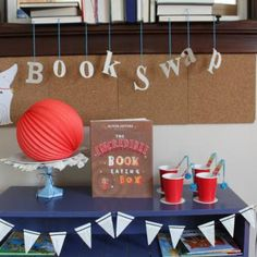 Book Swap Party  #CraftThatParty #RedBarnFeature