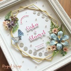 ahar @siska_slasis and… Wedding Flowers, Wedding Day, Malay Wedding, Engagement Decorations, Wedding Decorations, Diy Quilling Projects, Pop Up Frame, Henna Candles, Money Origami