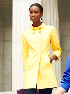 Doncaster Yellow Coat perfect for spring!