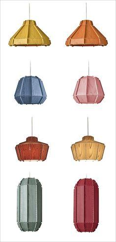 Egbert-Jan Lam of Netherlands-based Burojet Design Studio has designed and 'embroidered' a new family of lamps for Spanish lighting manufacturer, LZF. #ModernLighting #PendantLights #Lamps