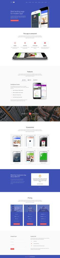 MDLP 2 - Material Design App Landing Page
