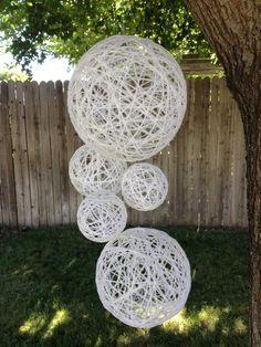 Wedding Decoration Hanging SpheresWedding Prop by TheFindSac, $65.00